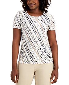 Petite Jacquard T-Shirt, Created for Macy's