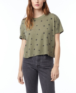 Women's Headliner Printed Eco-Jersey Cropped T-shirt
