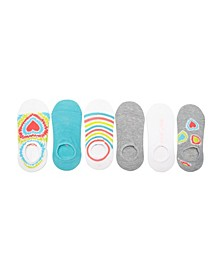 Women's Foot Liners, Pack of 6