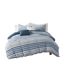 Calum Full/Queen Cotton Jacquard Comforter, Set of 5