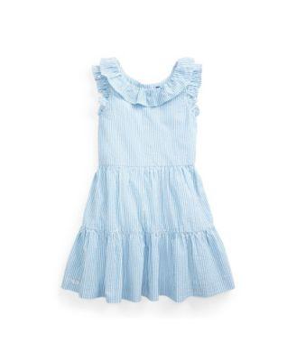 폴로 랄프로렌 Polo Ralph Lauren Little Girls Striped Seersucker Dress