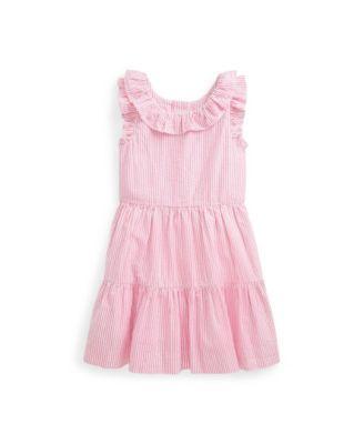폴로 랄프로렌 Polo Ralph Lauren Toddler Girls Striped Seersucker Dress