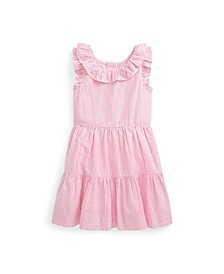 Toddler Girls Striped Seersucker Dress