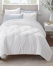 Simply Clean Antimicrobial Pleated Twin and Twin Extra Long Bed in a Bag Set, 5 Piece