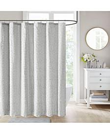 """Florence Cotton Floral Clip Jacquard 72"""" x 72"""" Shower Curtain"""