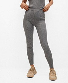 Women's Ribbed Knit Trousers