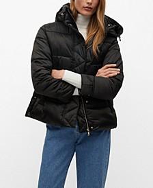 Women's Detachable Hood Coat