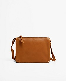 Women's Flap Leather Crossbody Bag