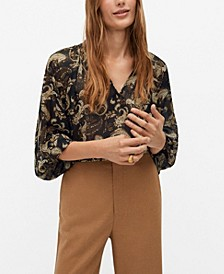 Women's Ruched Neck Blouse