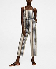 Women's Striped Long Jumpsuit