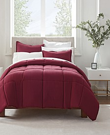 Simply Clean Antimicrobial Full and Queen Comforter Set, 3 Piece