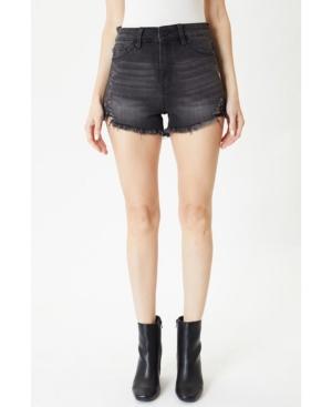 Women's High Rise Fray Hem Shorts