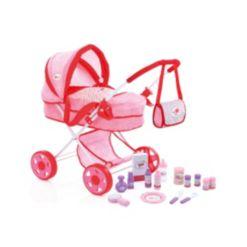 Little Mommy Doll Pram 17 Piece Play Set