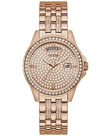 Women's Rose Gold-Tone Stainless Steel Bracelet Watch 38mm