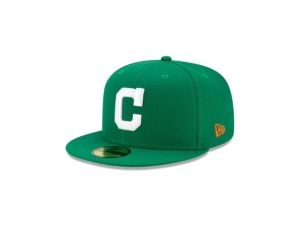 New Era CLEVELAND INDIANS KELLY GREEN COLOR UV 59FIFTY CAP