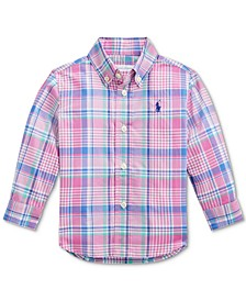 Ralph Lauren Baby Boys Plaid Cotton Poplin Shirt