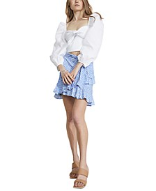 Mini Ditsy Wrap-Style Skirt
