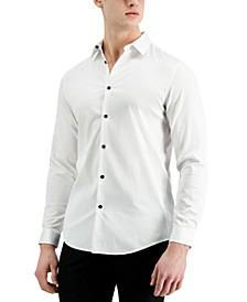 Men's Long-Sleeve Tux Shirt, Created for Macy's