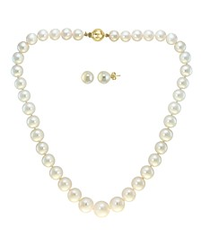 EFFY® 2-Pc. Set Cultured Freshwater Pearl (7-1/2-13mm) Strand Necklace & Matching Stud Earrings