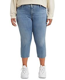 Trendy Plus Size 311 Shaping Skinny Capri Jeans