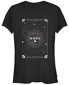 Juniors NASA Space Boho Short Sleeve Crew T-shirt