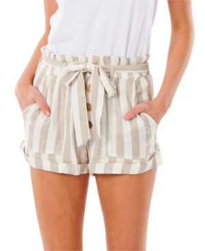 Rip Curl Shorts JUNIORS' ASHORE STRIPED SHORTS