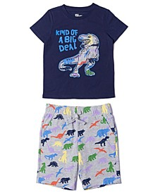 Toddler Boys Graphic Tee and Shorts Set