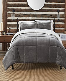 Cozy Plush 3 Piece Comforter Set, Queen