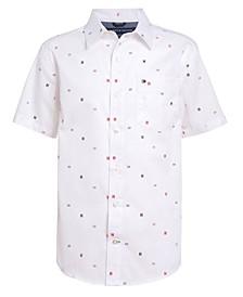 Little Boys Signature Print Short Sleeve Woven Shirt