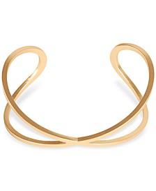 Gold-Tone Criss-Cross Cuff Bracelet