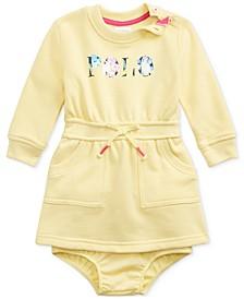 Ralph Lauren Baby Girls Logo Fleece Dress & Bloomer