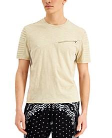 Men's Slant Zip T-Shirt, Created for Macy's