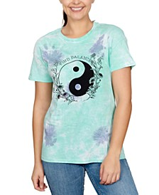 Juniors' Yin-Yang Tie-Dyed T-Shirt
