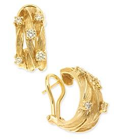D'Oro by EFFY® Diamond Vine Earrings (5/8 ct. t.w.) in 14k Gold