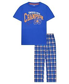 Big Boys Varsity Theme 2 Piece Long Leg Pajama Set