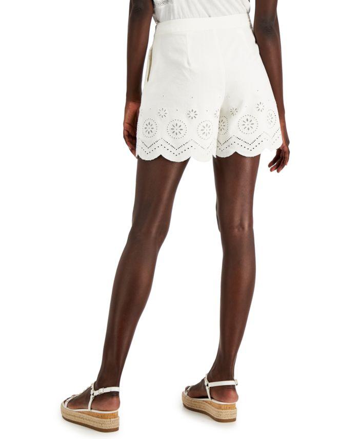 INC International Concepts INC Eyelet Shorts, Created for Macy's & Reviews - Shorts - Women - Macy's