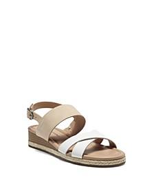 Women's Waeka Crisscross Strap Wedge Sandals