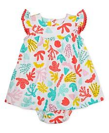 Baby Girls 2 Piece Reef Print Gauze Dress Set