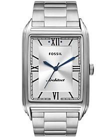 Men's Arc-02 Silver-Tone Bracelet Watch 32mm