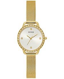 Women's Gold-Tone Mesh Bracelet Watch 30mm
