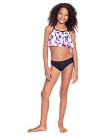 Big Girls Flounce Bikini Set, 2 Piece
