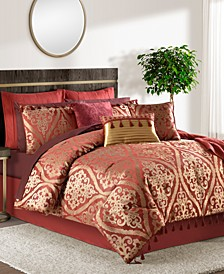 Hilton 14-Pc. Damask-Print Queen Comforter Set, Created for Macy's