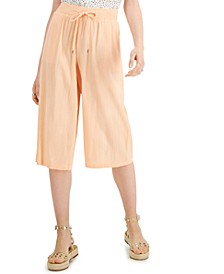 Pull-On Wide-Leg Cropped Pants, Created for Macy's