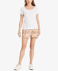 Scoop Neck Linen T-Shirt
