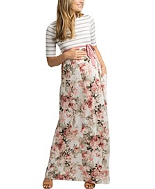 Women's Forence Floral Maxi Maternity Dress