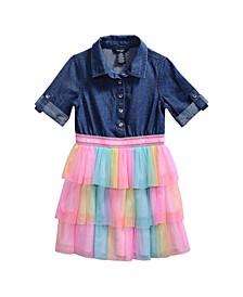Bebe Big Girls Denim Tutu Dress