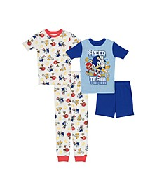 Little Boys 4 Piece Cotton Pajama Set
