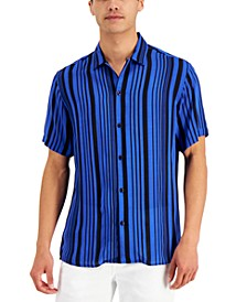 Men's Stripe Camp Shirt, Created for Macy's