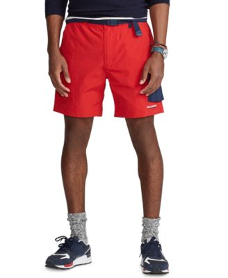 폴로 랄프로렌 Polo Ralph Lauren Mens 7-Inch Hiking Shorts,RL Red