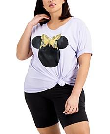Trendy Plus Size Minnie Silhouette T-Shirt